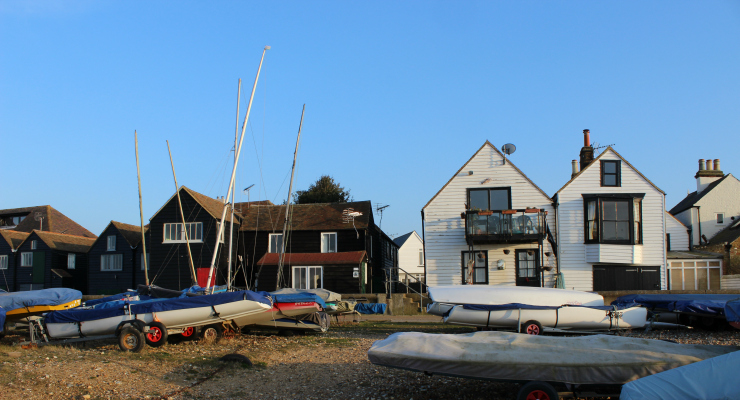 Fisherman's Huts, Whitstable. Copyright Gretta Schifano