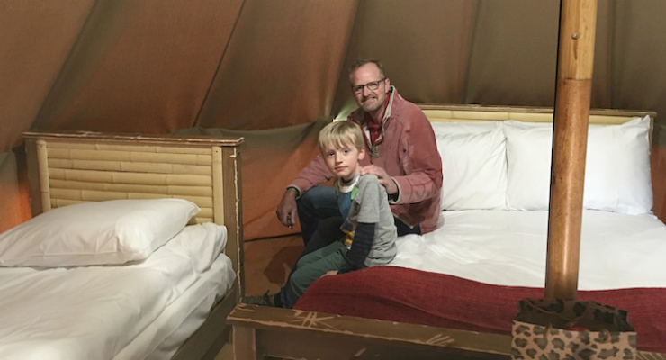 Glamping at Chessington World of Adventures. Copyright Afra Willmore