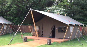 Glamping tent at Chessington World of Adventures. Copyright Afra Willmore
