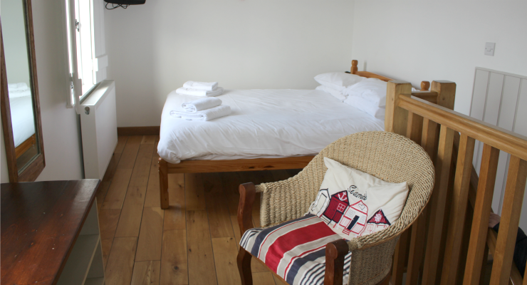 Upstairs bedroom, Fisherman's Hut, Whitstable. Copyright Gretta Schifano