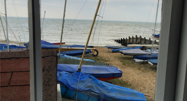 View from the window, Fisherman's Hut, Whitstable. Copyright Gretta Schifano