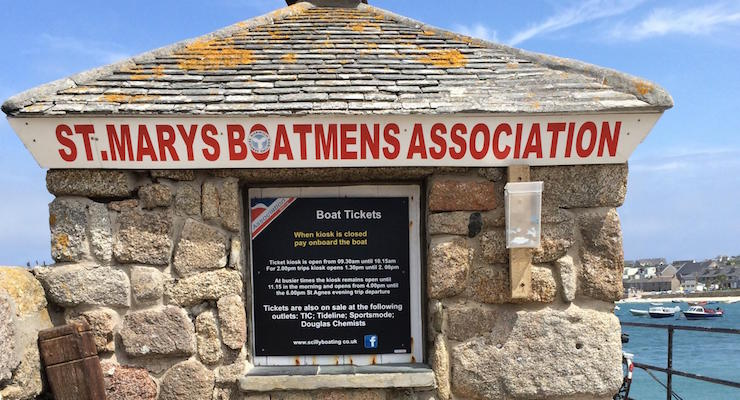 Boat ticket office, St. Mary's, Isles of Scilly. Copyright Gretta Schifano
