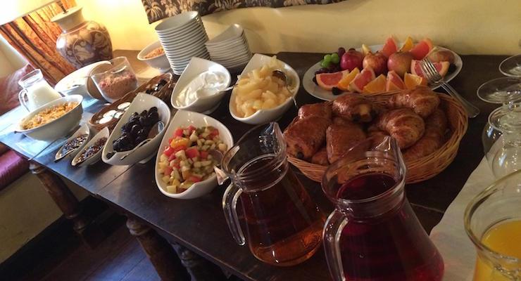 Breakfast buffet, Star Castle Hotel, Isles of Scilly. Copyright Gretta Schifano