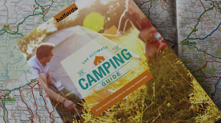 Halfords UK camping guide. Image copyright Gretta Schifano