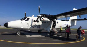 Skybus to the Isles of Scilly from Exeter. Copyright Gretta Schifano