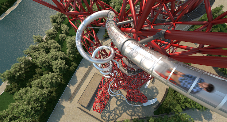 ArcelorMittal Orbit slide. Image courtesy of ArcelorMittal Orbit