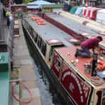 Canal boats, London Camden Lock. Copyright Gretta Schifano