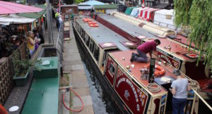 Canal boats, London Camden Lock. Copyright Gretta Schifano