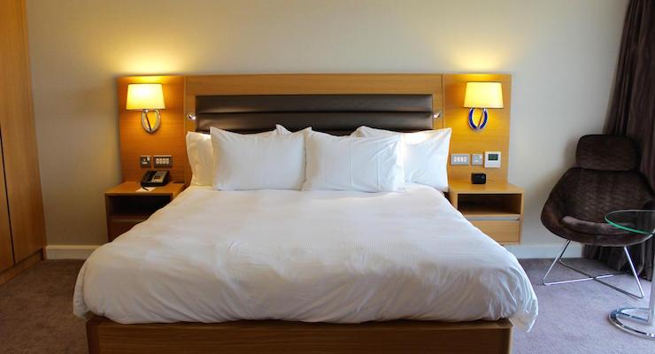 Bedroom, Kevin Keegan Suite, Hilton St. George's. Copyright Gretta Schifano