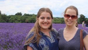 Gretta Schifano and daughter, Mayfield Lavender Farm.
