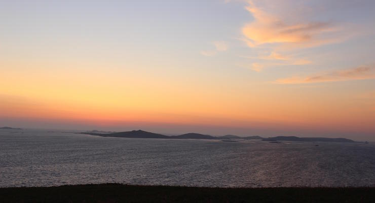 Sunset, St. Mary's, Isles of Scilly. Copyright Gretta Schifano