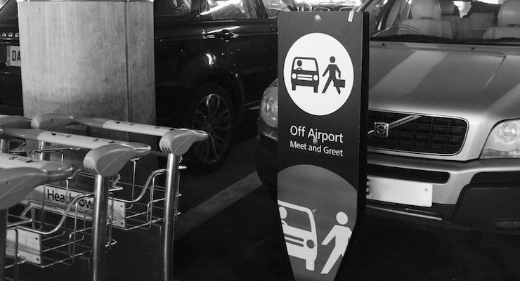 Meet and greet parking, London Heathrow airport. Copyright Gretta Schifano