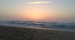 Sunset at Praia D'el Rey, Portugal. Copyright Gretta Schifano