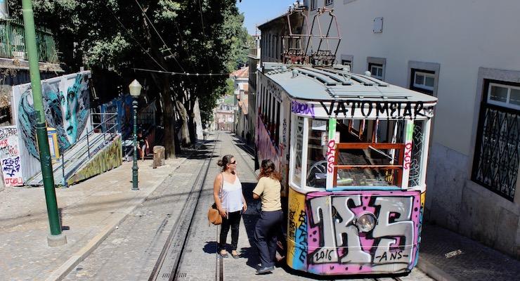 Funicular, Lisbon. Copyright Gretta Schifano