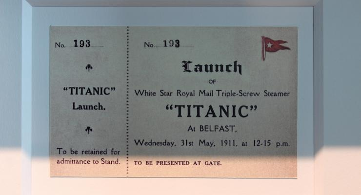 Titanic launch ticket. Copyright Gretta Schifano