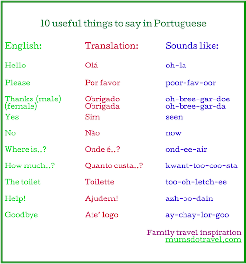 10 useful things to say in Portuguese