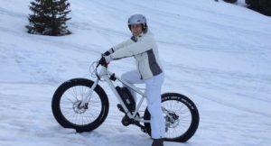 Me on a fat bike in the French Alps. Copyright Gretta Schifano