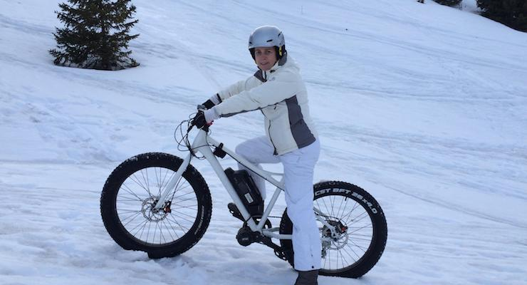 Me on a fat bike in the French Alps. Copyright Gretta Schifano