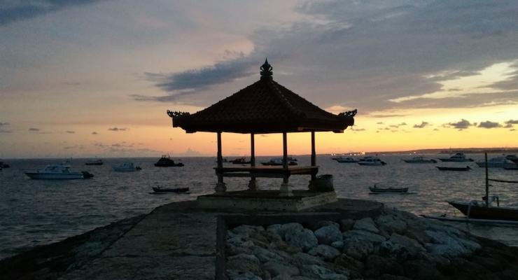 View out to sea from Fairmont Hotel, Bali. Copyright Sharmeen Ziauddin