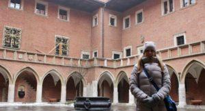 Me at Collegium Maius, Kraków. Copyright Gretta Schifano