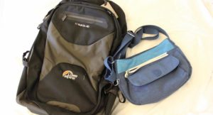 My hand luggage for an 8 kg weight restriction with Lufthansa. Copyright Gretta Schifano