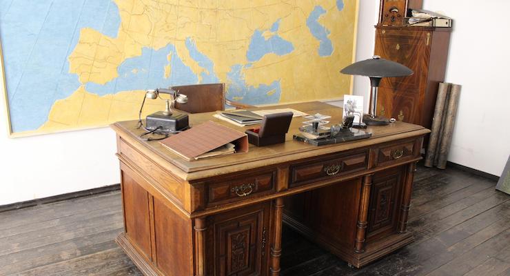 Oskar Schindler's office. Copyright Gretta Schifano