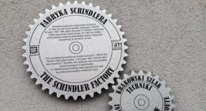 Sign outside Oskar Schindler's Factory, Kraków. Copyright Gretta Schifano
