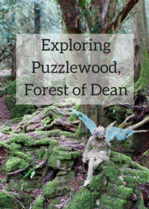 Exploring Puzzlewood in the Forest of Dean. Copyright Gretta Schifano