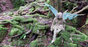 Fairy sculpture, Puzzlewood, Forest of Dean. Copyright Gretta Schifano