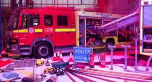 London Fire Brigade pop up museum. Copyright London Fire Brigade.