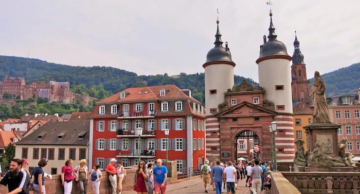 Medieval Bridge Gate, Heidelberg, Germany