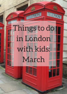 Ideas for family activities and days out in London in March, including Mother's Day, Pancake Day, World Book Day, Women's History Month and more. Click through for details of events, festivals, activities and exhibitions to appeal to children and teenagers in London.