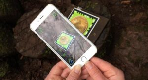Using the Puzzlewood app. Copyright Gretta Schifano