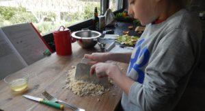 Cooking with Nino. Copyright Lorenza Bacino