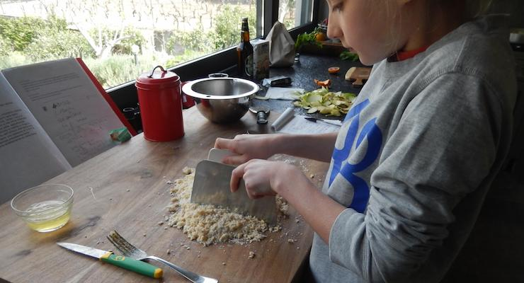 Cooking with Nino. Copyright Lorenza Bacino