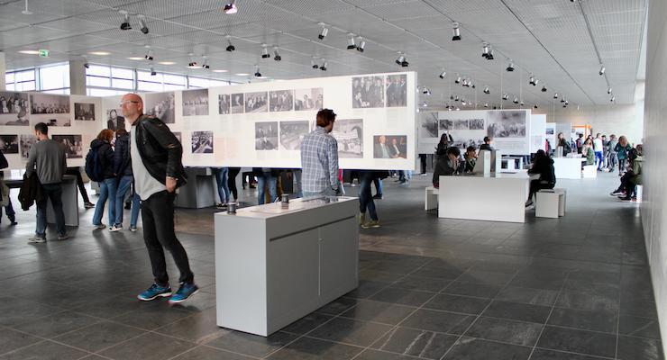 Inside the Topographie Des Terrors, Berlin. Copyright Gretta Schifano