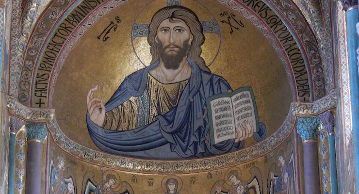 Mosaic in Cefalu' duomo. Copyright Lorenza Bacino
