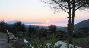 Sunset from Villa Vittoria, Sicily. Copyright Lorenza Bacino