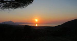 Sunset view from Villa Vittoria, Sicily. Copyright Lorenza Bacino