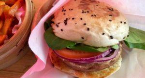 Toad burger, Shiso Burger, Berlin. Copyright Gretta Schifano
