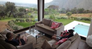 Villa Vittoria living room with views of Madonie Park, Sicily. Copyright Lorenza Bacino