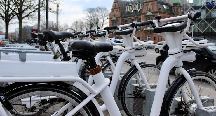 City rental bikes, Copenhagen. Copyright Gretta Schifano