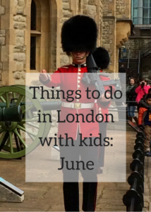 Ideas and inspiration for great things to do for kids and families in London in June. There are always loads of things happening in London, and this monthly roundup includes iconic sites and festivals as well as lesser known events. From Trooping the Colour to London Food Month, check out the full post for full details of what's happening.