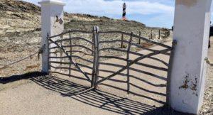 Traditional Menorcan wooden gates, Menorca. Copyright Gretta Schifano