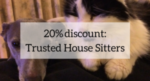 20% discount with Trusted House Sitters