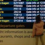 Gatwick airport departure board. Copyright Gretta Schifano