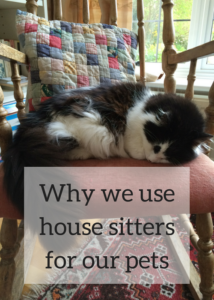 House sitters are a great option for looking after your home and your pets when you travel. Some house sitters sit for free. Click to read the full article to see why and how we use house sitters to look after our house, dog and cat, fro free, when we are on holiday.