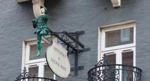 Inspiration for the Leaky Cauldron, St. Martin's Lane, London. Copyright Gretta Schifano