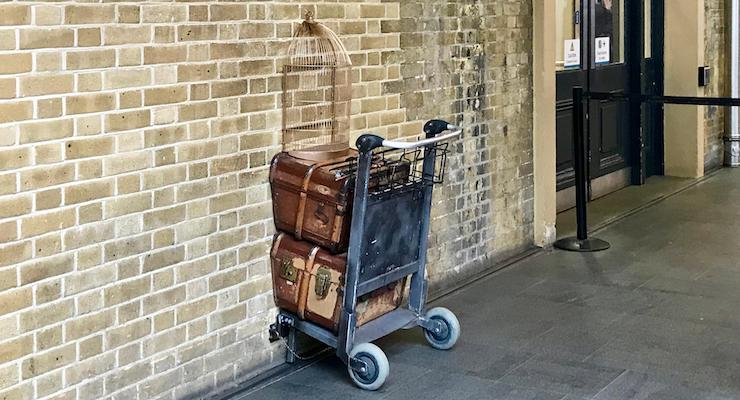Platform 9 3/4, Kings Cross Station, London. Copyright Sal Schifano