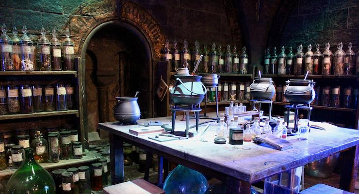 Potions classroom, Warner Bros Studio Tour. Copyright Gretta Schifano